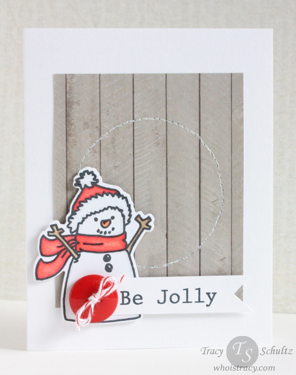 Be Jolly Xmas/Winter Card by Tracy Schultz @ whoistracy.com