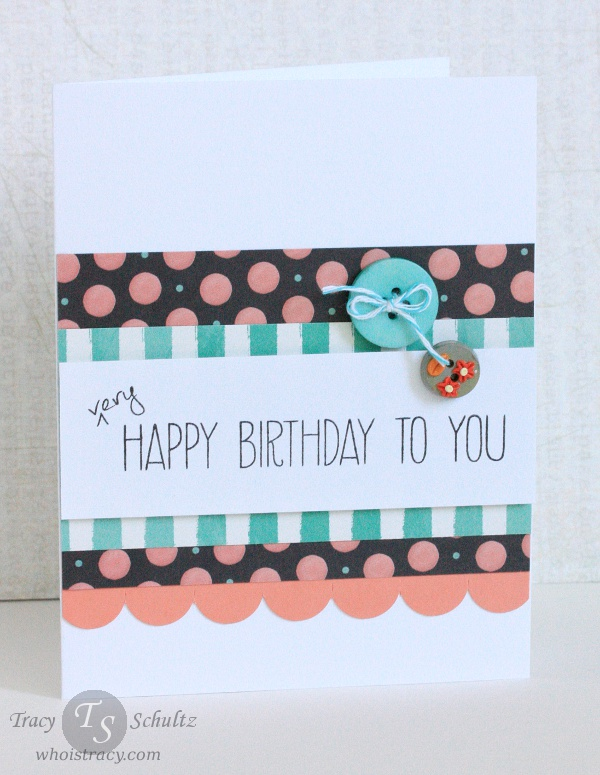 Dotted Birthday by Tracy Schultz @ whoistracy.com