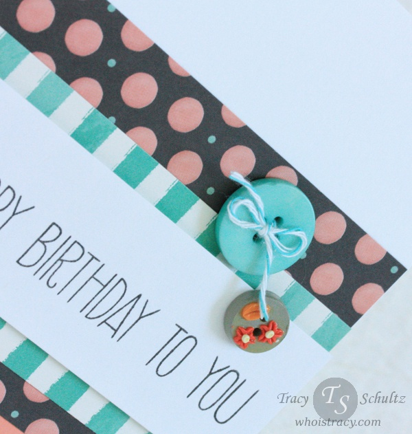 Dotted Birthday close-up by Tracy Schultz @ whoistracy.com