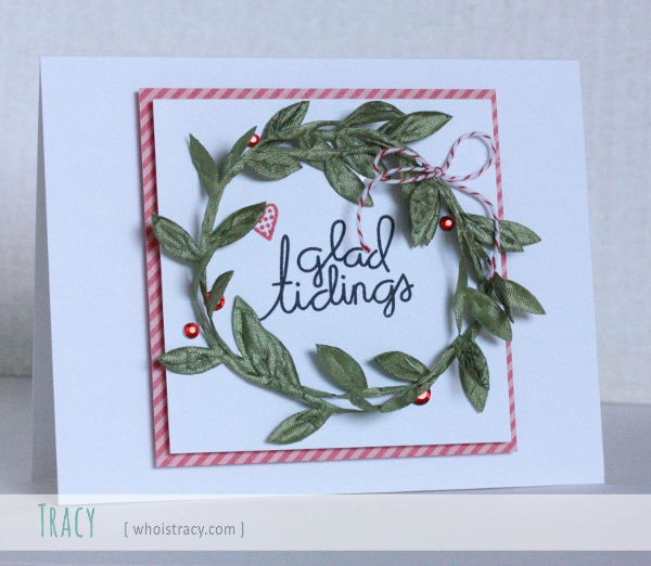 Glad Tidings holiday card by Tracy Schultz @whoistracy.com