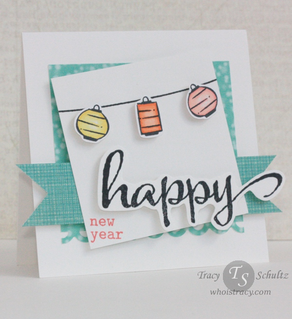 Happy New Year card by Tracy Schultz @whoistracy.com