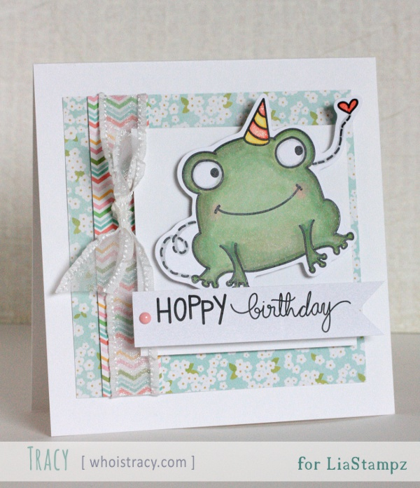 Hoppy Birthday card by Tracy Schultz @whoistracy.com
