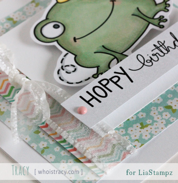 Hoppy Birthday card close-up by Tracy Schultz @whoistracy.com