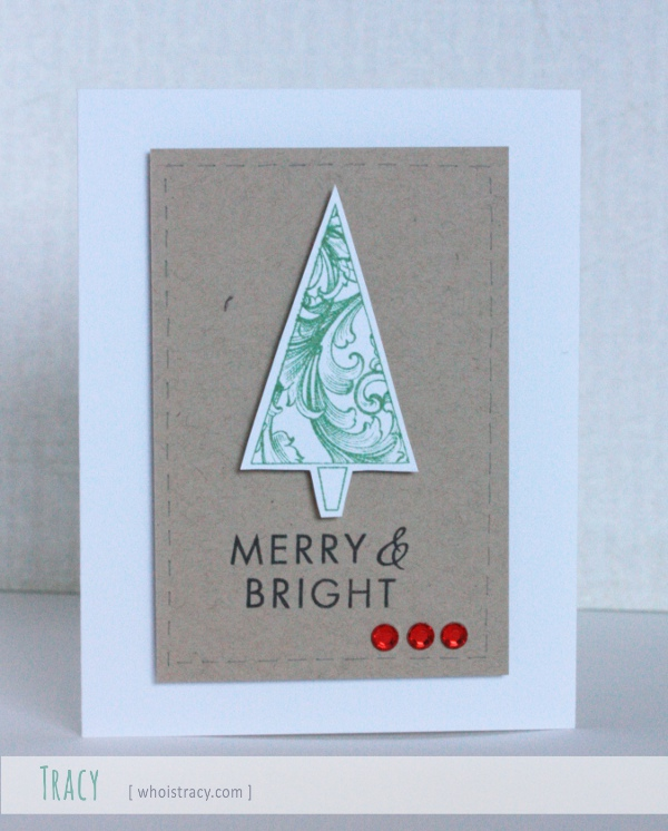 Merry and Bright holiday card by Tracy Schultz @whoistracy.com