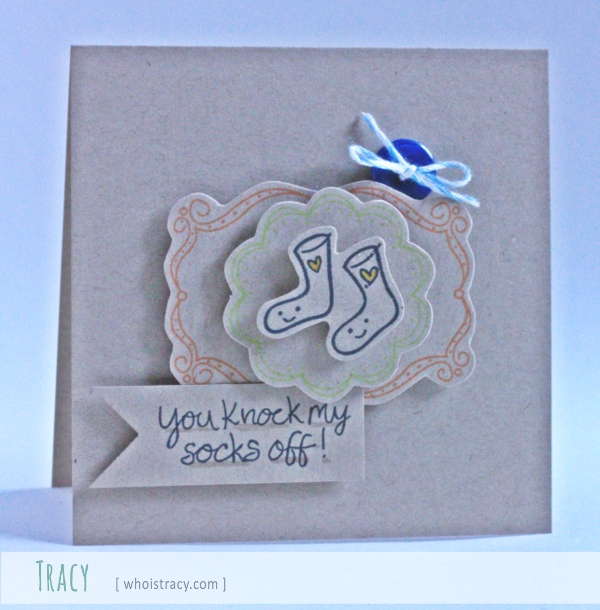 Socks Off Valentine's card by Tracy Schultz