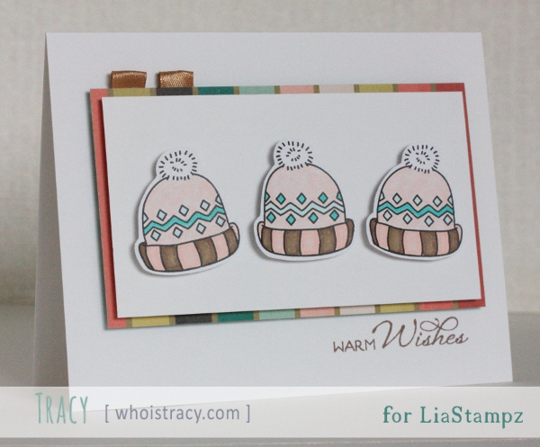 Winter Hats card by Tracy Schultz @whoistracy.com