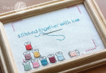 Stitched With Love framed