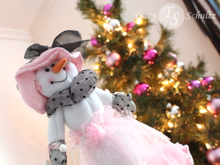 Pink Snowgirl and Tree