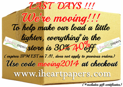 IHP Moving Sale 40%
