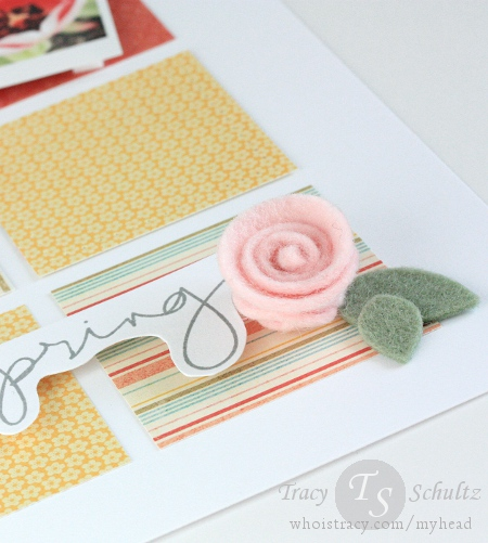 Spring layout sentiment close-up
