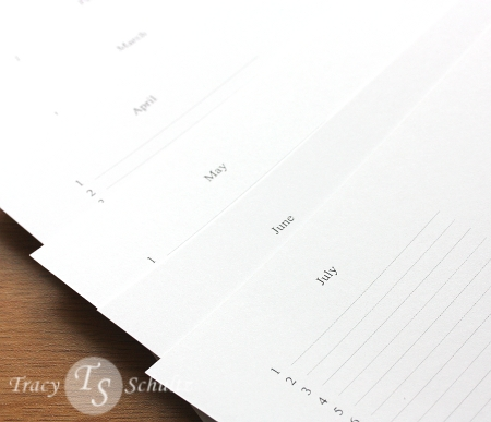 Calendar Pages Printed